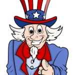goofy uncle sam