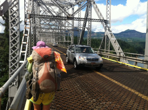 Cheryl Strayed finished her hike at the Bridge of the Gods, spanning the Columbia River.